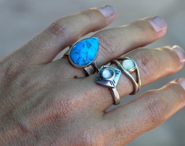 Turquoise Elfin Ring
