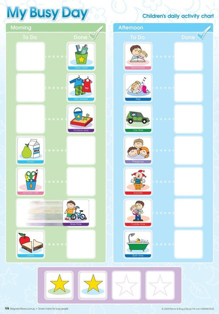 My Busy Day Magnetic Rewards Chart Childrens Activities Reward Chart Teaching Toddlers
