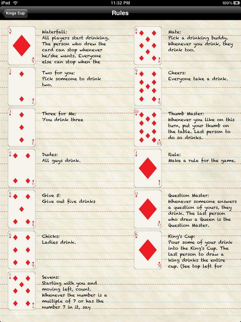 Kings Cup Spielregeln