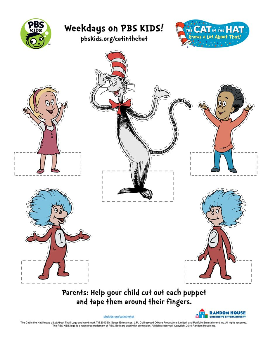 picture about Cat in the Hat Printable Activities named The Cat within the Hat . Printable Actions PBS Small children