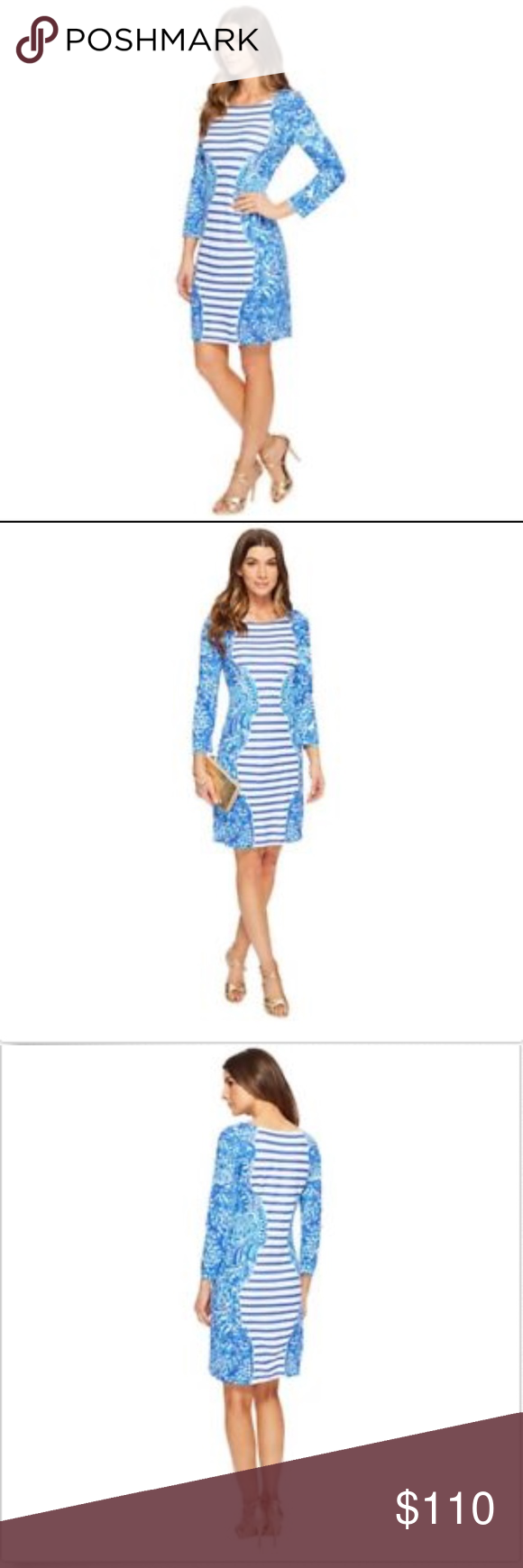 b4b65cf348c289 LILLY PULITZER Nila Strip dress Brilliant Blue S LILLY PULITZER Size Small Nila  dress Brilliant Blue