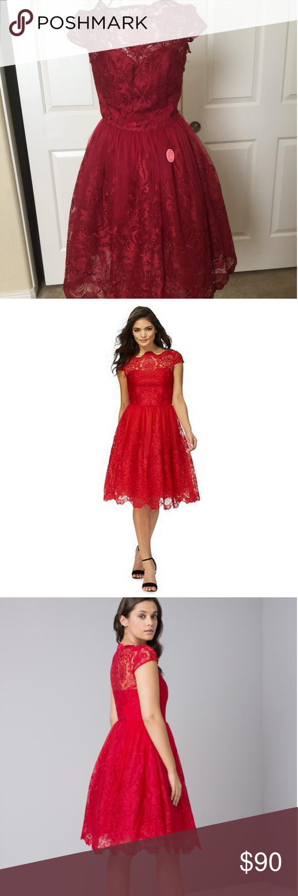 e29a5364307ad Chi Chi London Size 0 2 Dione Dress Red