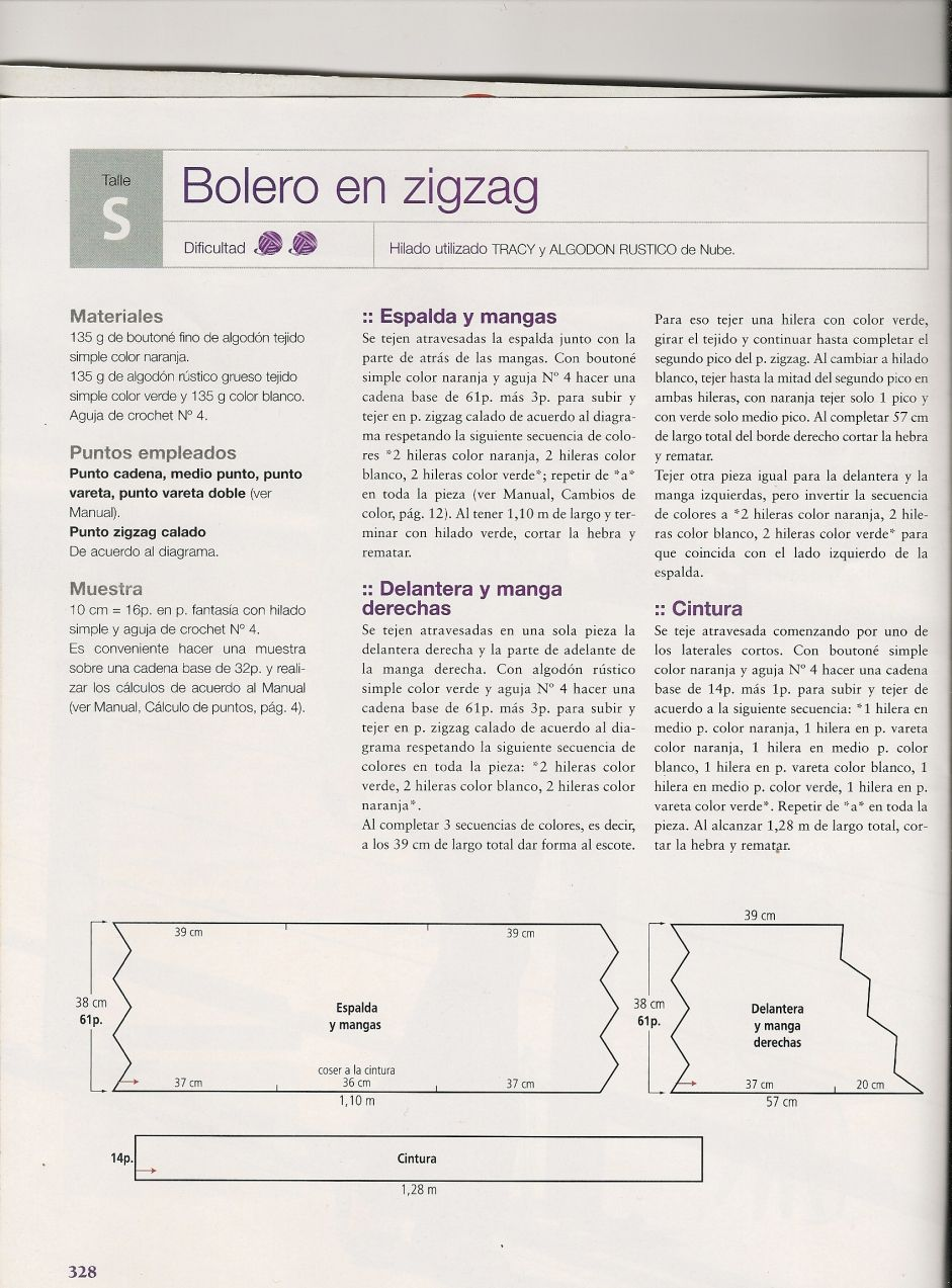 bolero zig zag 0 | Casakinhos e boleros | Pinterest | Rincon, Zig ...