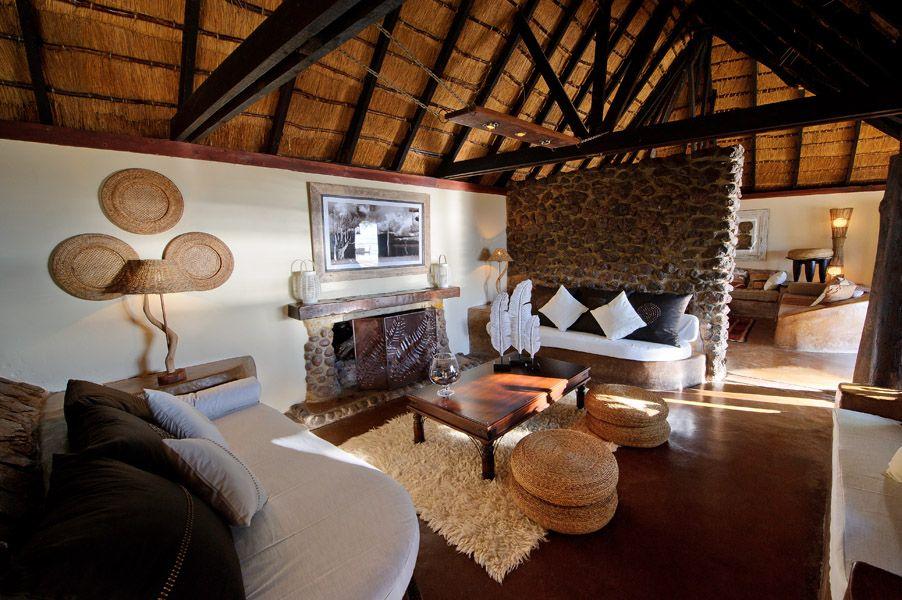 African decor at Tongabezi Safari Lodge