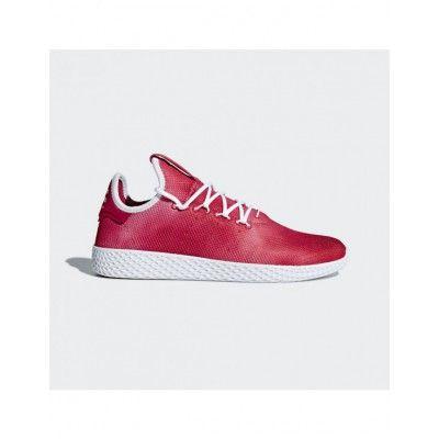 f12de64c9 Adidas Men s Originals Pharrell Williams Tennis Hu Shoes Scarlet Cloud White Cloud  White DA9615