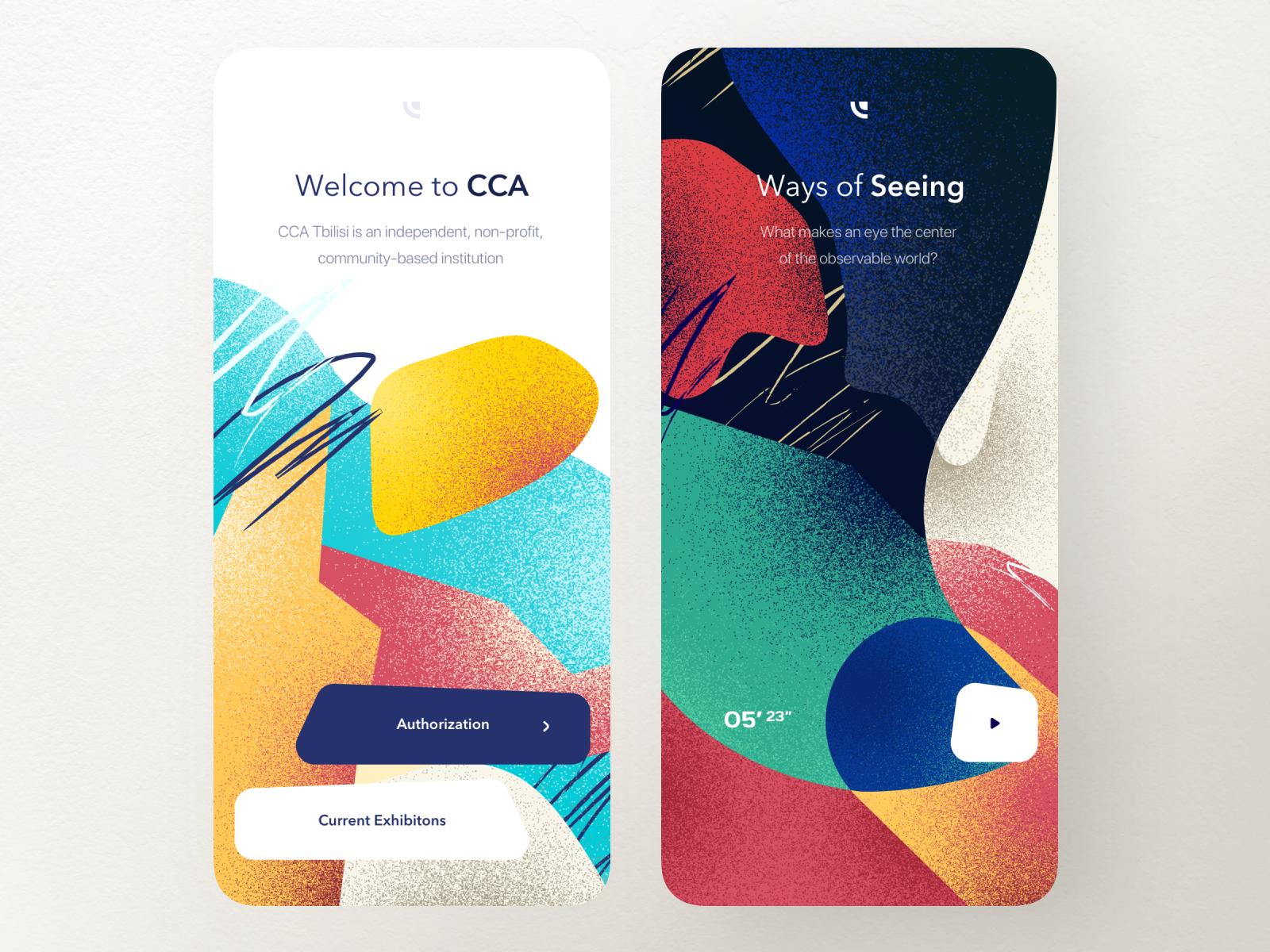 CCA App — Splash Screen, Video art,cca,contemporary