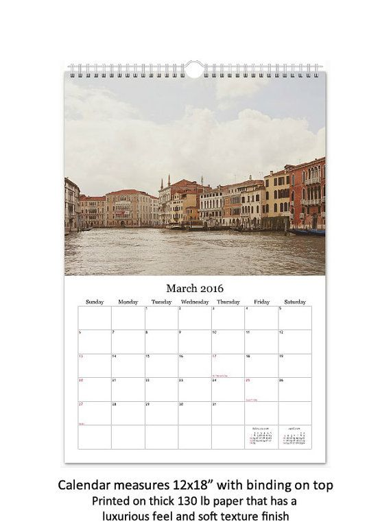 This 2016 Wanderlust Wall Calendar features original travel photography by Irene Suchocki. This item is available only in the USA and is