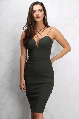 Rare Fashion London multi cross strap midi dress Buy Cheap Store Buy Cheap 100% Original eAIdkTZf