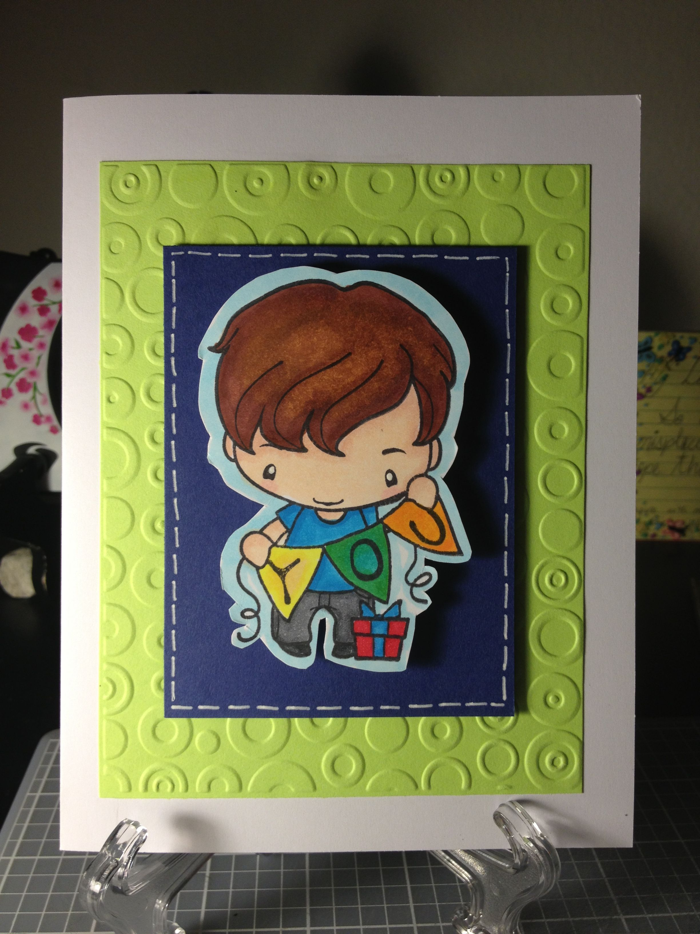 HoneyBallende http://etsy.me/Lk2Bue via @Etsy.   COME CHECK THIS CUTE BOY BIRTHDAT CARD! One of a kind! Available for purchase!