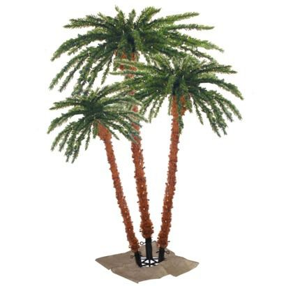 Find artificial flowers and christmas trees at Target.com! These lighted palm  trees are perfect for a party or just to ... - Lighted Palm Tree Trio With 650 Clear Lights - 4'/ 5'/ 6'. Find