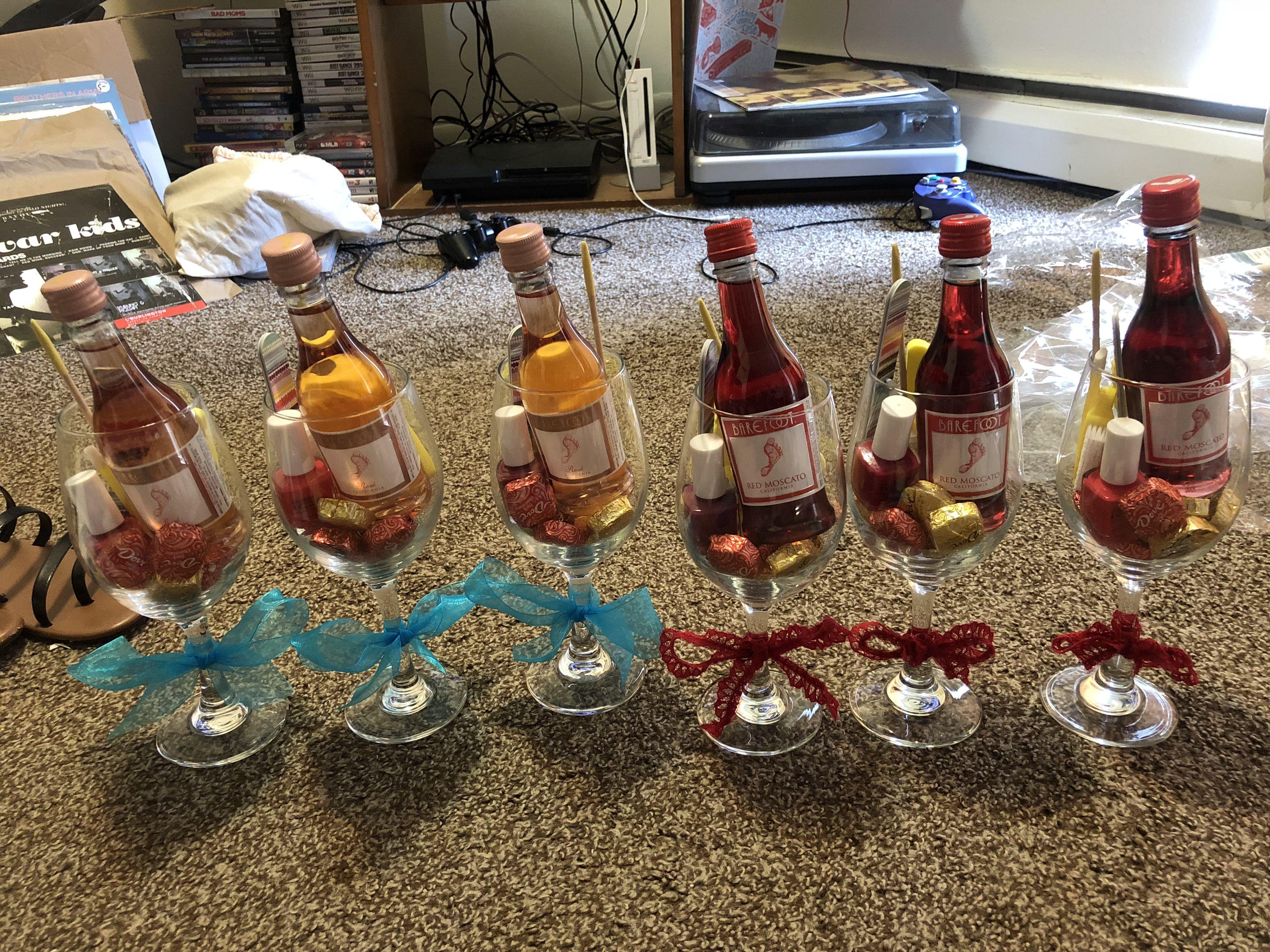 Bridal showerbachelorette party favors mini wine bottles