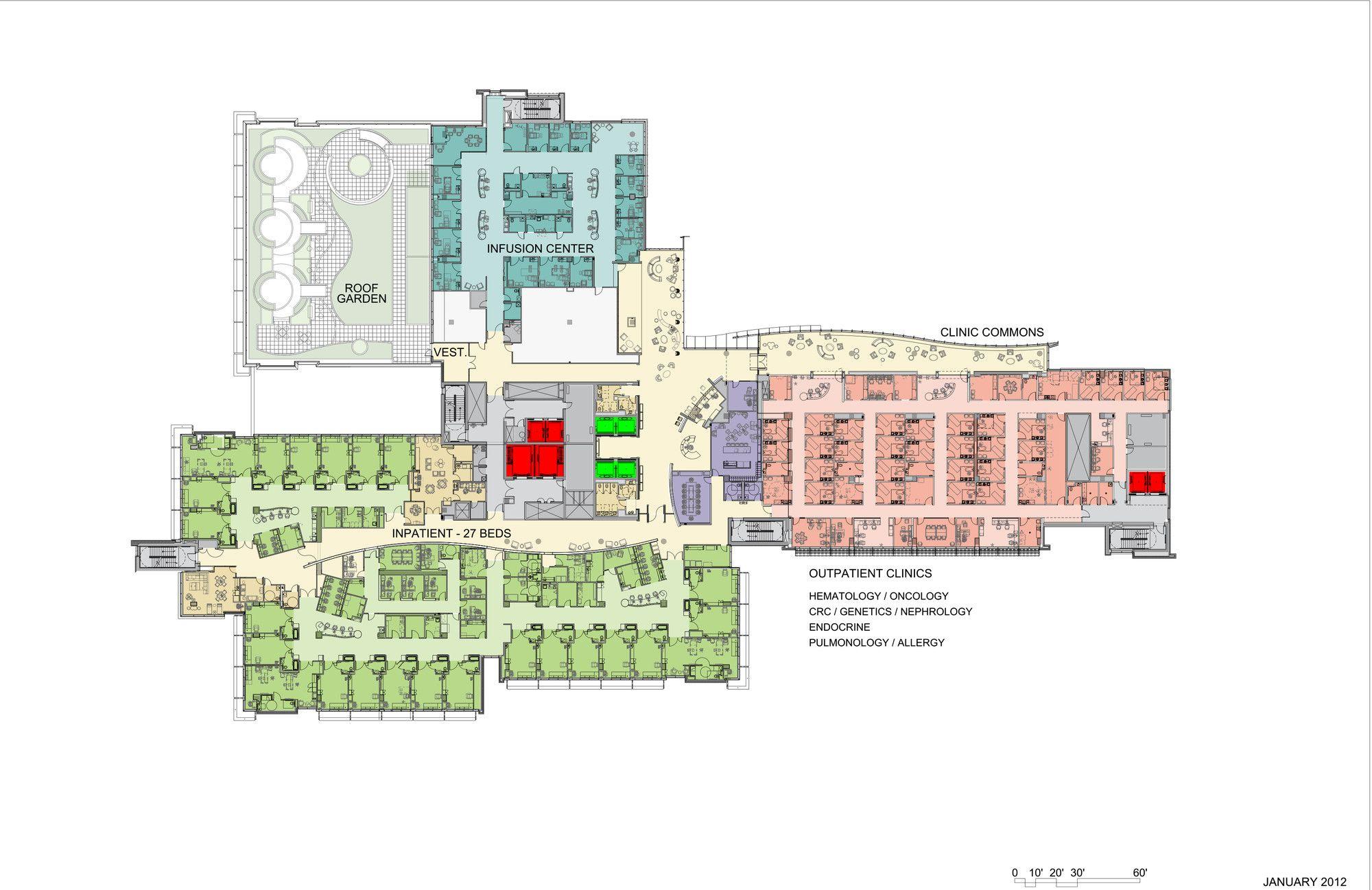 Image 27 Of 28 From Gallery Of Nemours Children S Hospital Stanley Beaman Sears Level 4 Plan Children Hospital Design Hospital Design Children Hospital