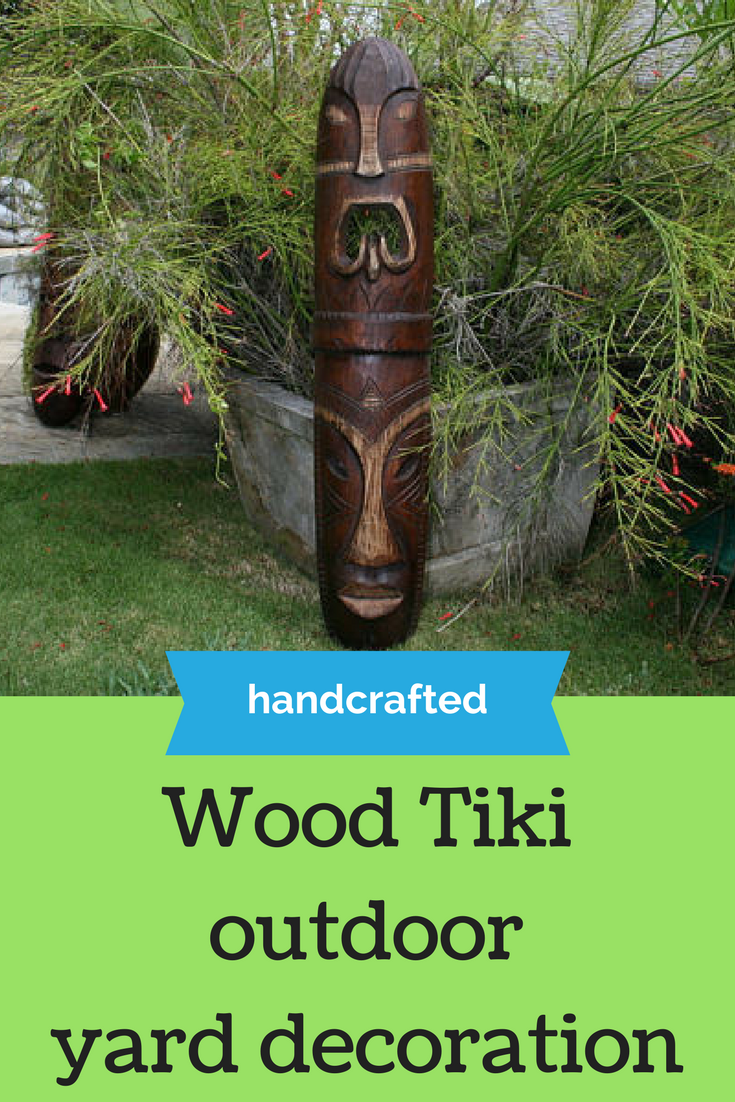 Wooden Tiki Outdoor Yard Decor Parties Affiliate