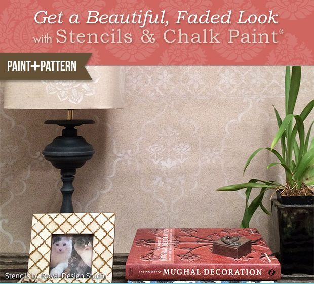 Chalk Paint Vintage Wall Stencil