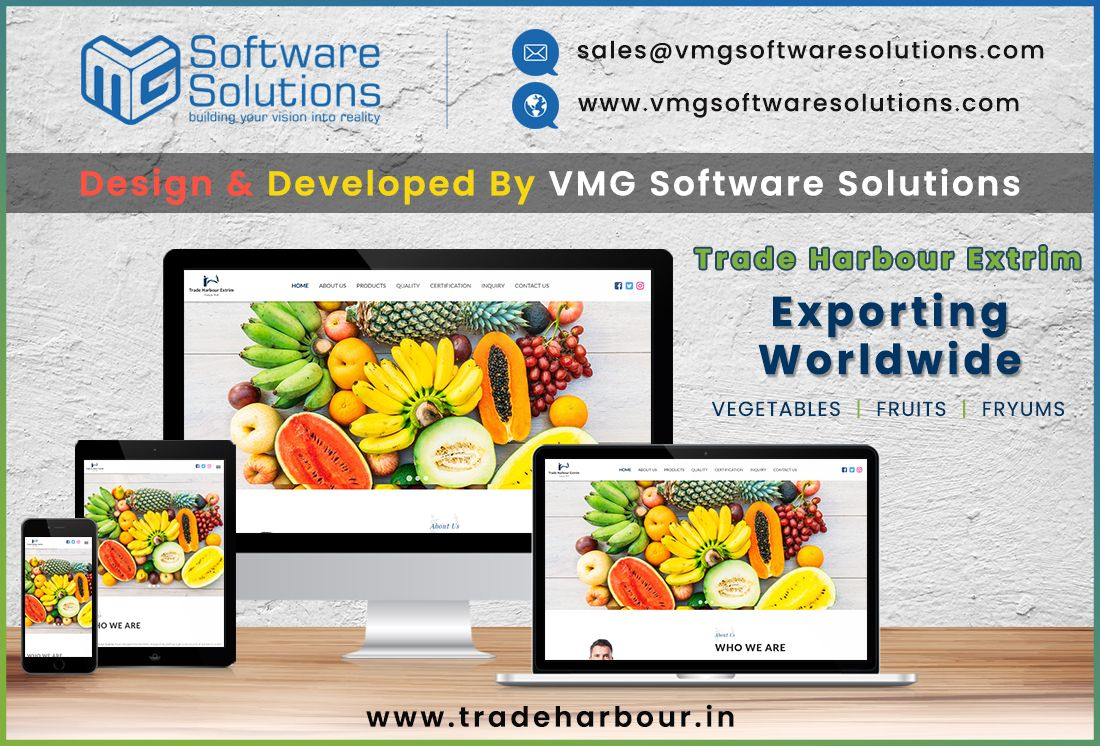 One More Successful Project Completed By Team Vmg Trade Harbour Extrim Trading The Wor Website Design Website Design Services Mobile Application Development