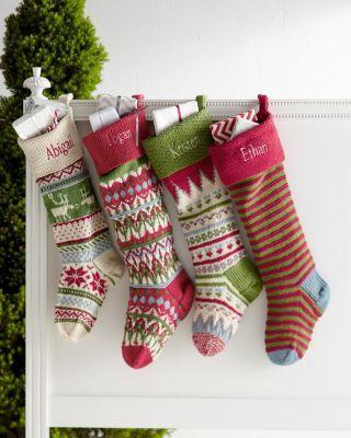 Garnet Hill Fair Isle Woolen Stockings | Christmas ...