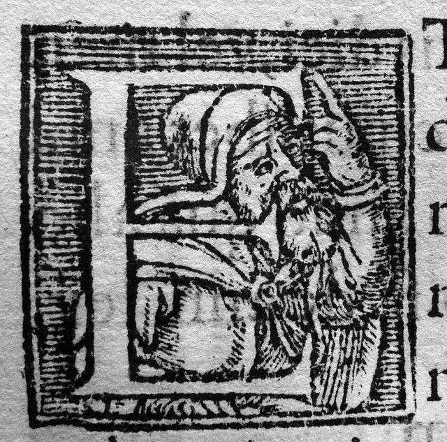 Woodcut Initial Cap, Claude Senneton, Lyon, mid-16th c.