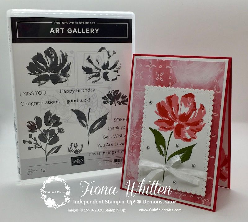 Two-Step Stamping with the new Art Gallery stamp s