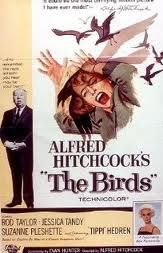 The Birds. Movie is creepy.