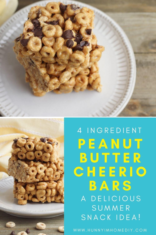 Gluten Free FourIngredient Cheerio Bars Hunny I'm Home