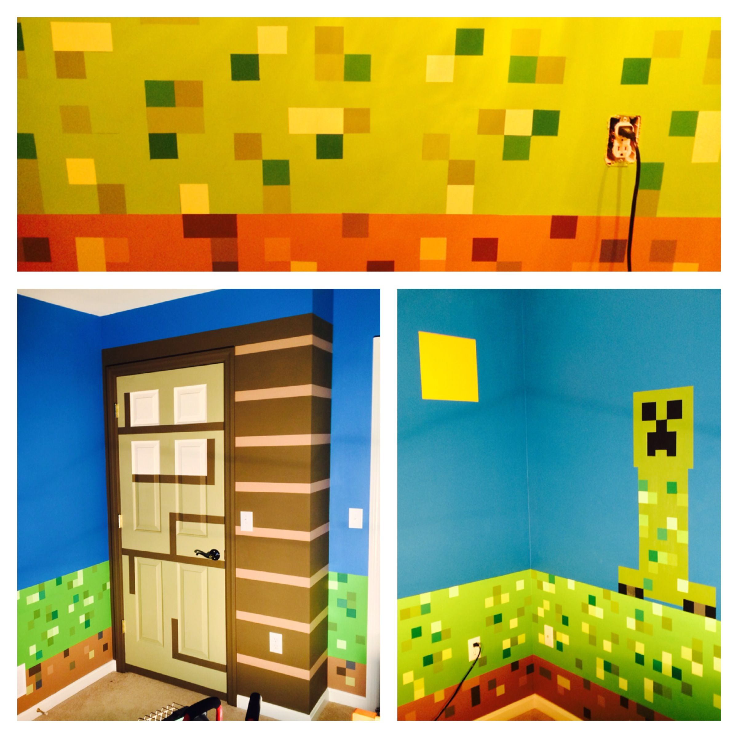 Minecraft room in 2018 room decor pinterest basteln for Minecraft kinderzimmer
