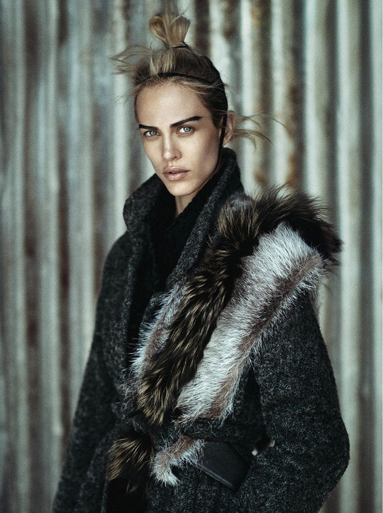 Aymeline Valade by Boo George for Vogue Japan January 2015 | The Fashionography