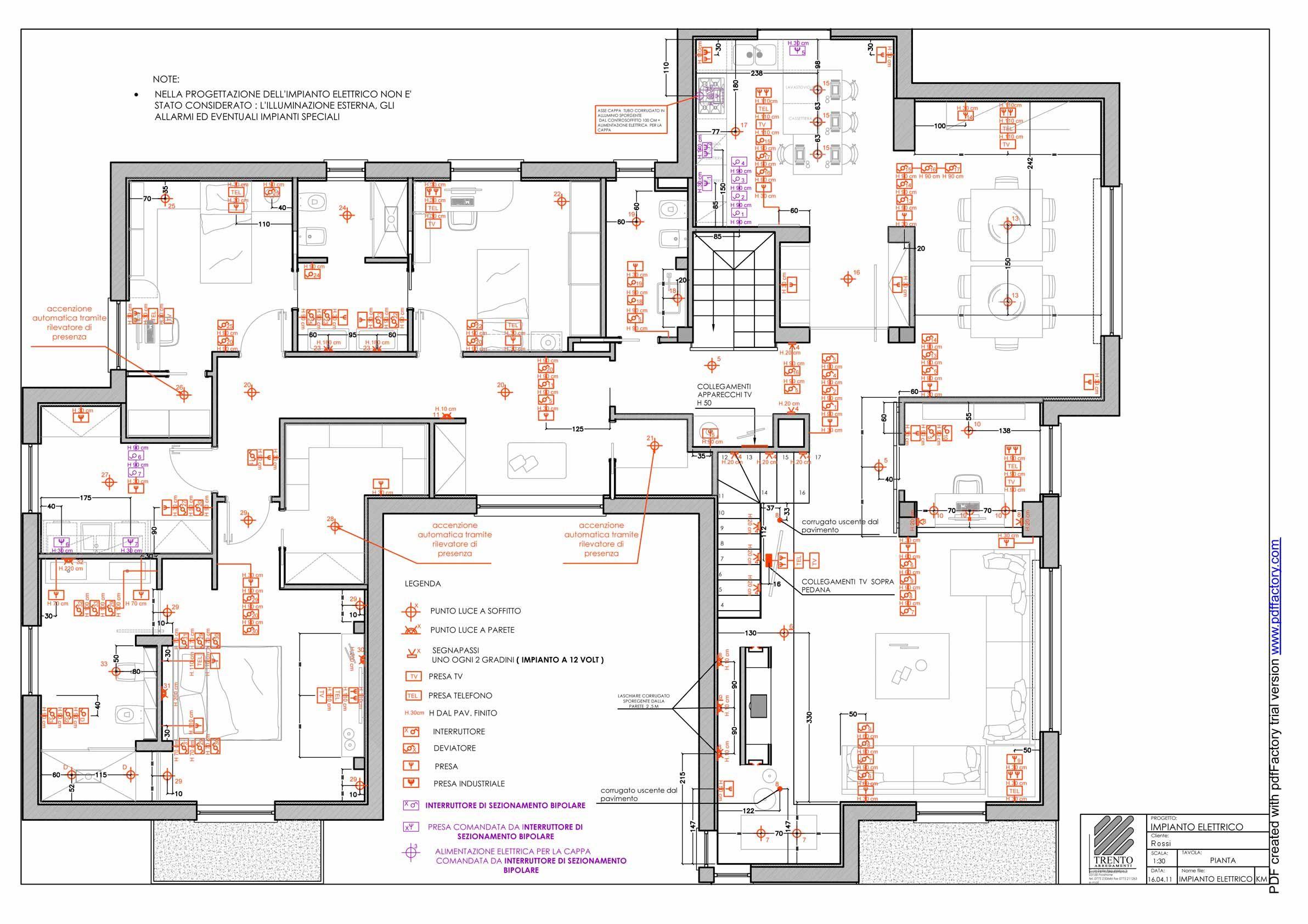 Schema Elettrico Phon : Schema progetto impianto elettrico progetti da provare