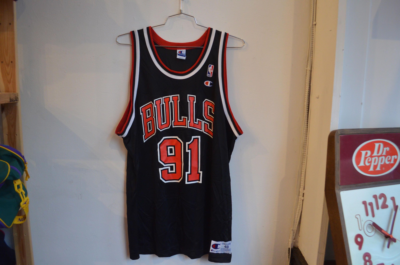 f690661636b2 Vintage 90s Champion Dennis Rodman Chicago Bulls NBA Jersey by RadOTR on  Etsy