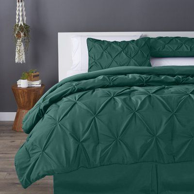 House Of Hampton Vesqueville Comforter Set Size: Queen, Color: Hunter Green