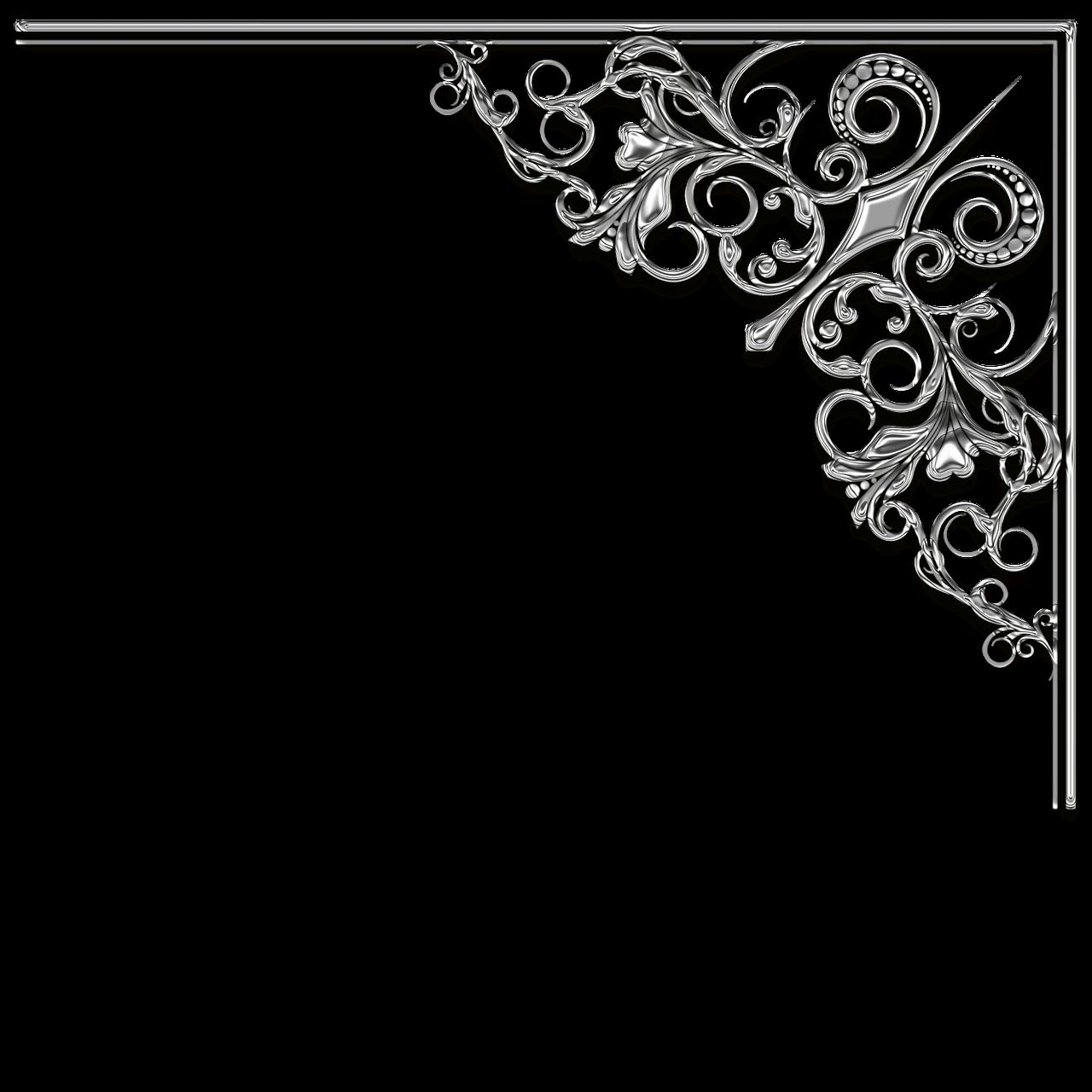 wedding corner frame divider silver filigree wedding corner