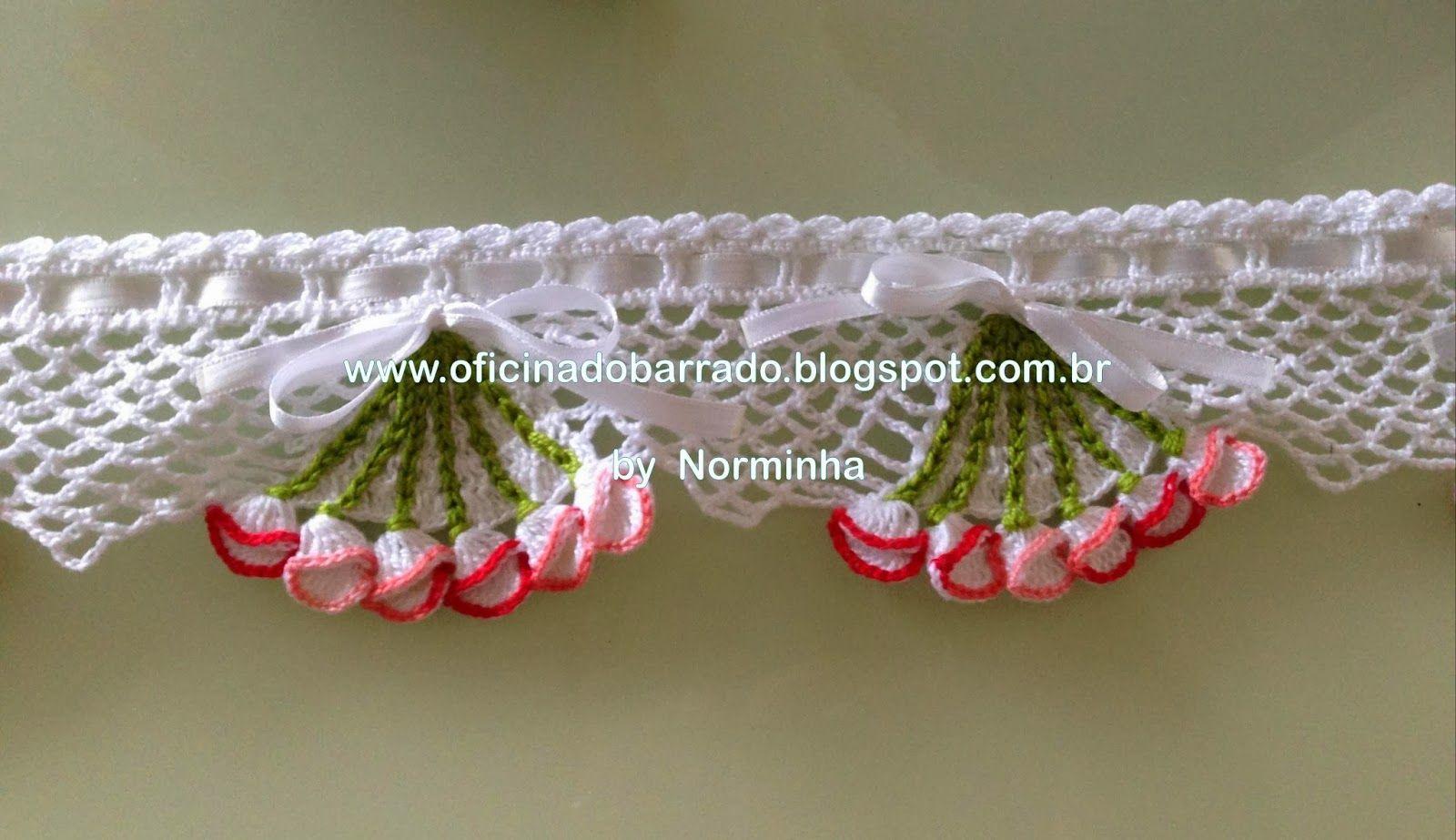 Oficina Do Barrado Bainha De Croche Fazer Croche