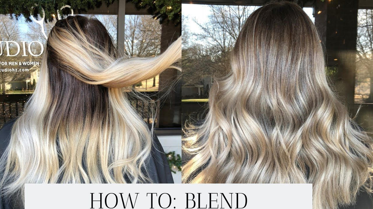Reverse Balayage How To Convert All Over Blonde To Dimensional Balayage Youtube In 2020 Reverse Balayage Blonde Hair With Roots Grown Out Blonde Hair