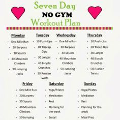 7 Day Workout Plan For Beginners At Home Yourviewsiteco