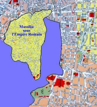 Plan De Marseille Sous La Domination Romaine Plan De Marseille