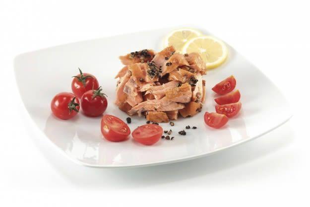 Cupola di salmone affumicato a caldo #salmone #affumicato