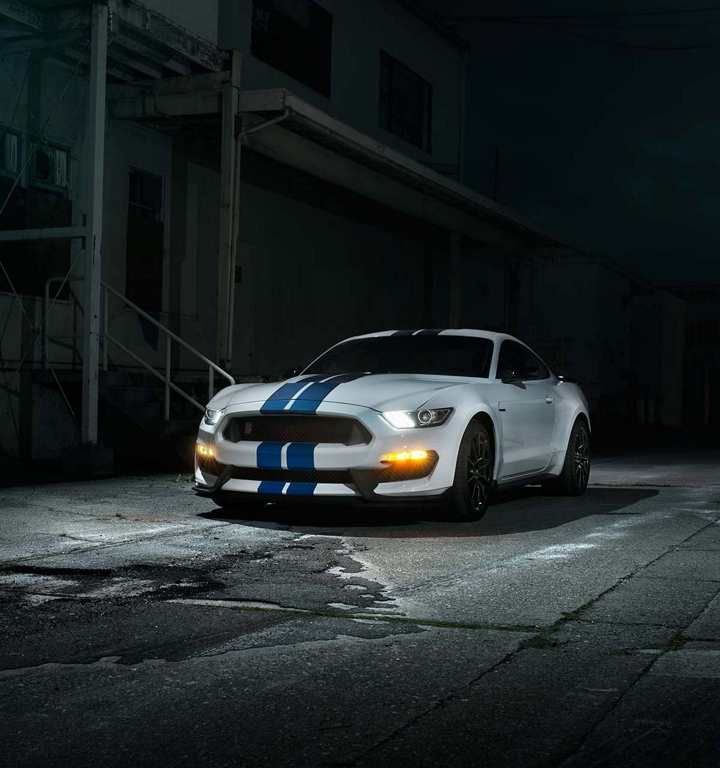 2018 Shelby GT350 Parked In A Dark Urban Alleyway