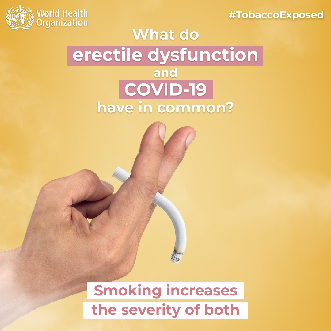 What Do Erectile Dysfunction And Covid 19 Have In Common Smoking Increases The Severity Of Both Tobaccoexposed