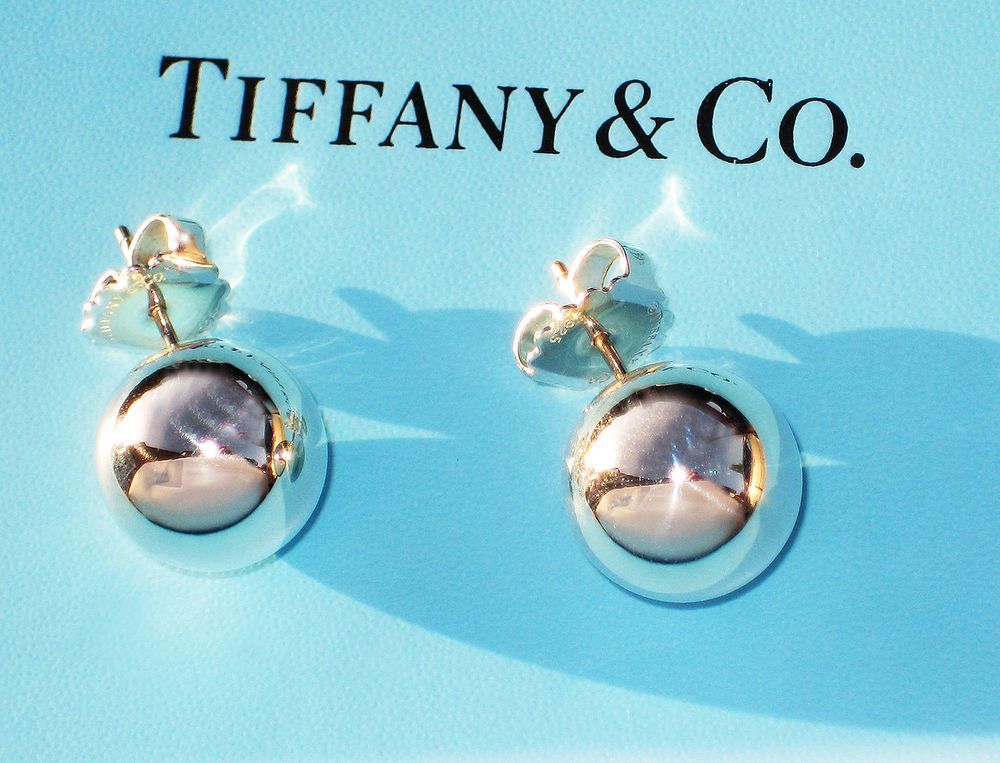 d83f6eb27 Tiffany & Co Sterling Silver Ball 14MM Bead Earrings | This Is Why I ...