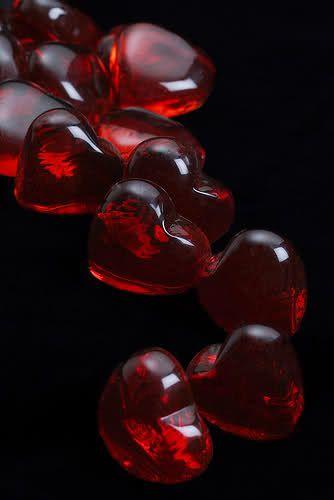 Corazones De Vidrio Rojos Latidos Pinterest Rojo Cristal