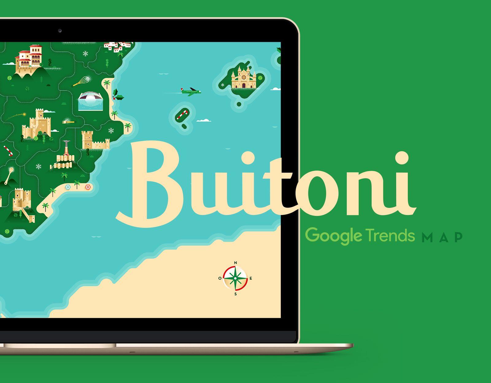Popatrz Na Ten Projekt W Behance Buitoni Google Trends Map Https Www Behance Net Gallery 59890551 Buitoni Google Trends Map With Images