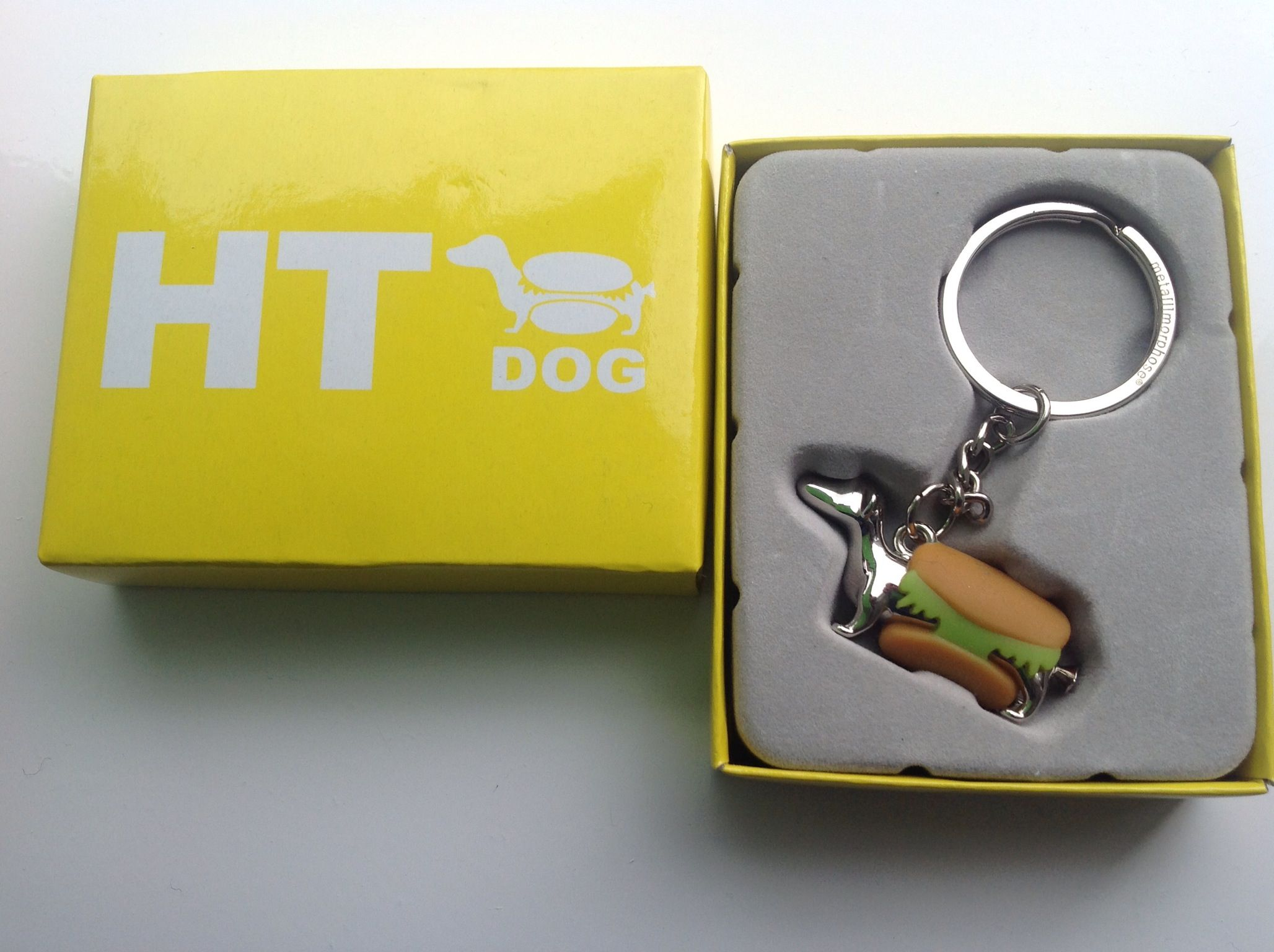 Hot dog key chain