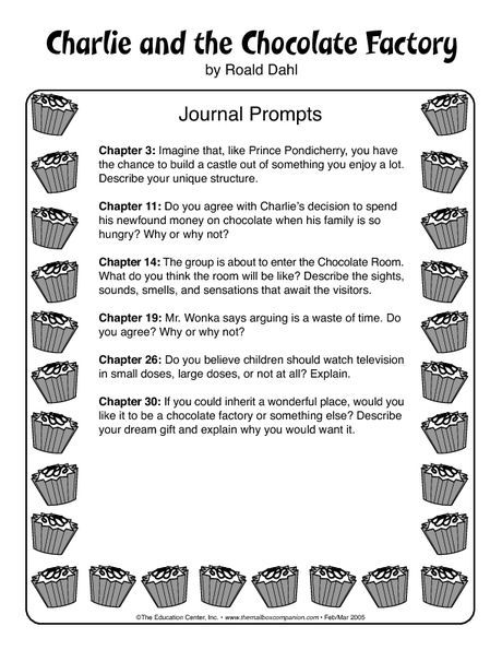 charlie and the chocolate factory writing prompts free printable tpt free lessons. Black Bedroom Furniture Sets. Home Design Ideas