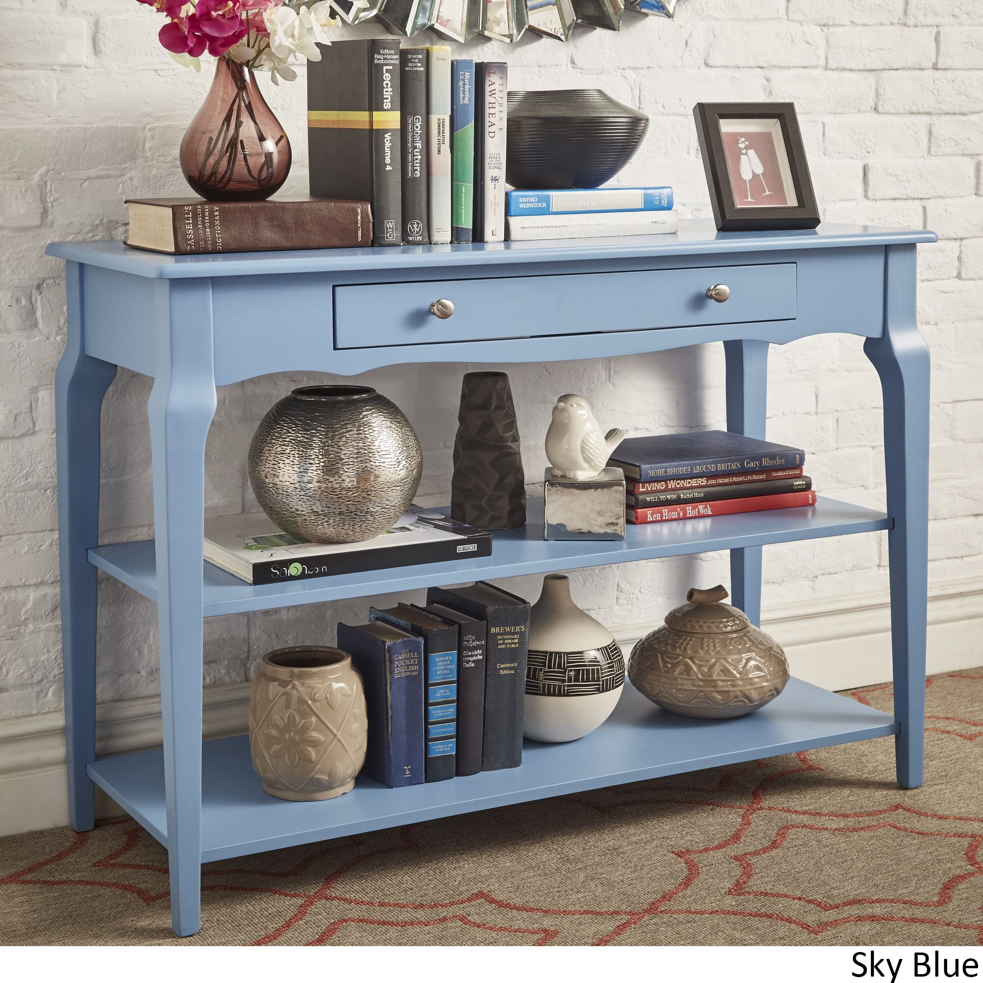 Super Daniella Console Table Tv Stand By Inspire Q Bold Sky Blue Unemploymentrelief Wooden Chair Designs For Living Room Unemploymentrelieforg