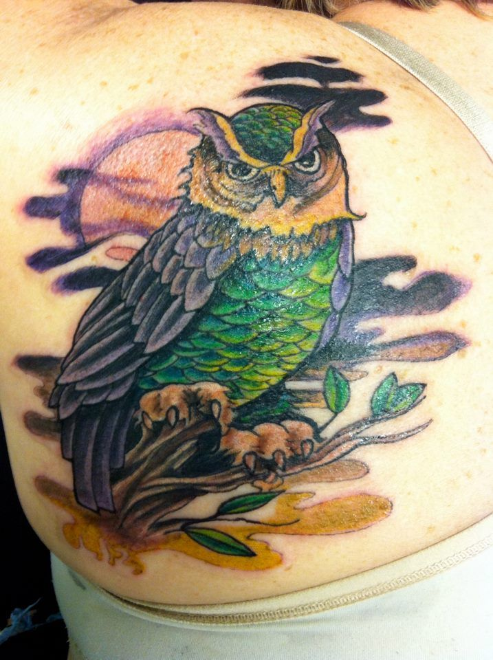 Owl Tattoo | Owl tattoo, Inspirational tattoos, Mom tattoos