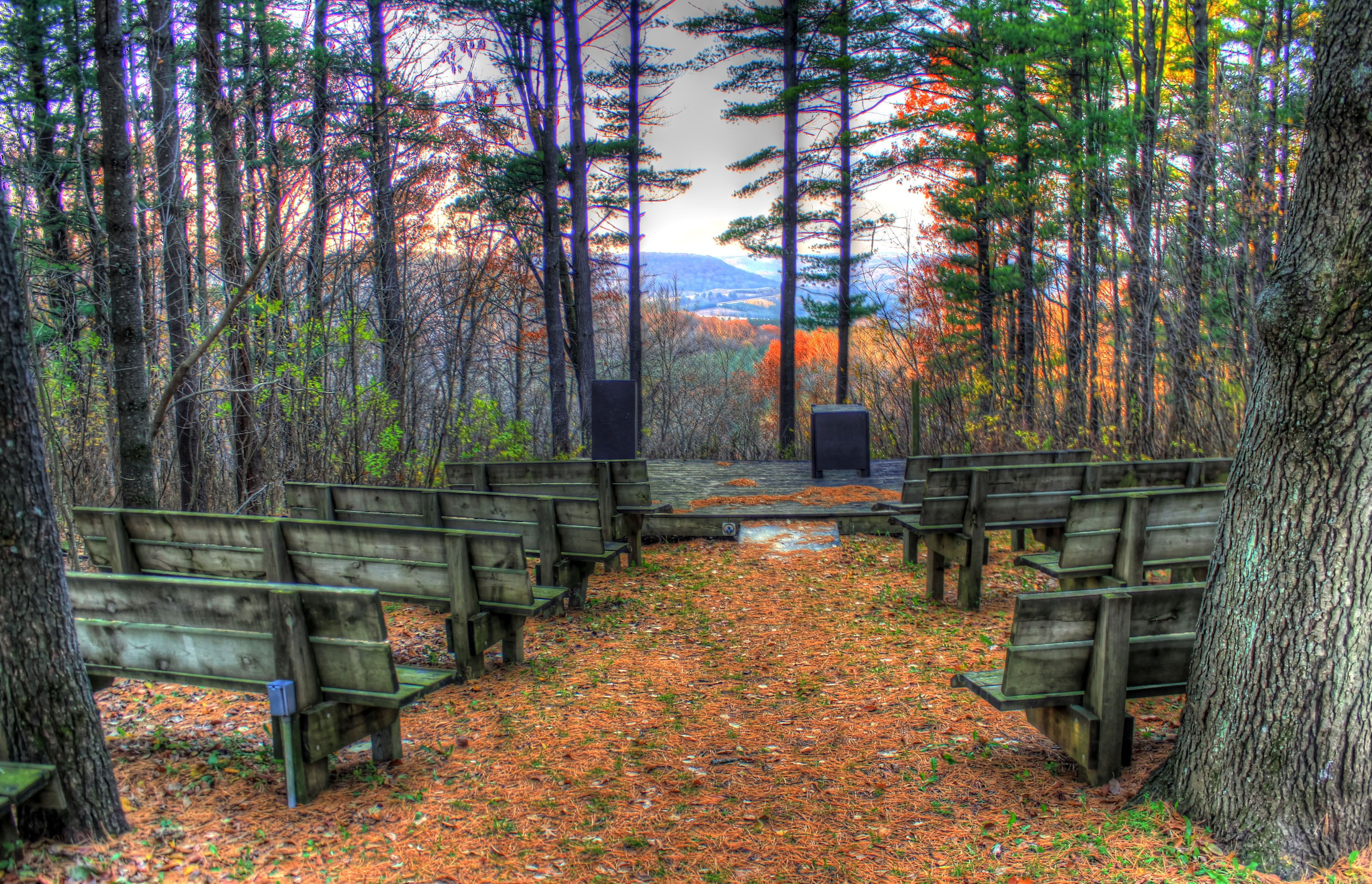 Amphitheatre at wildcat mountain state park wisconsin