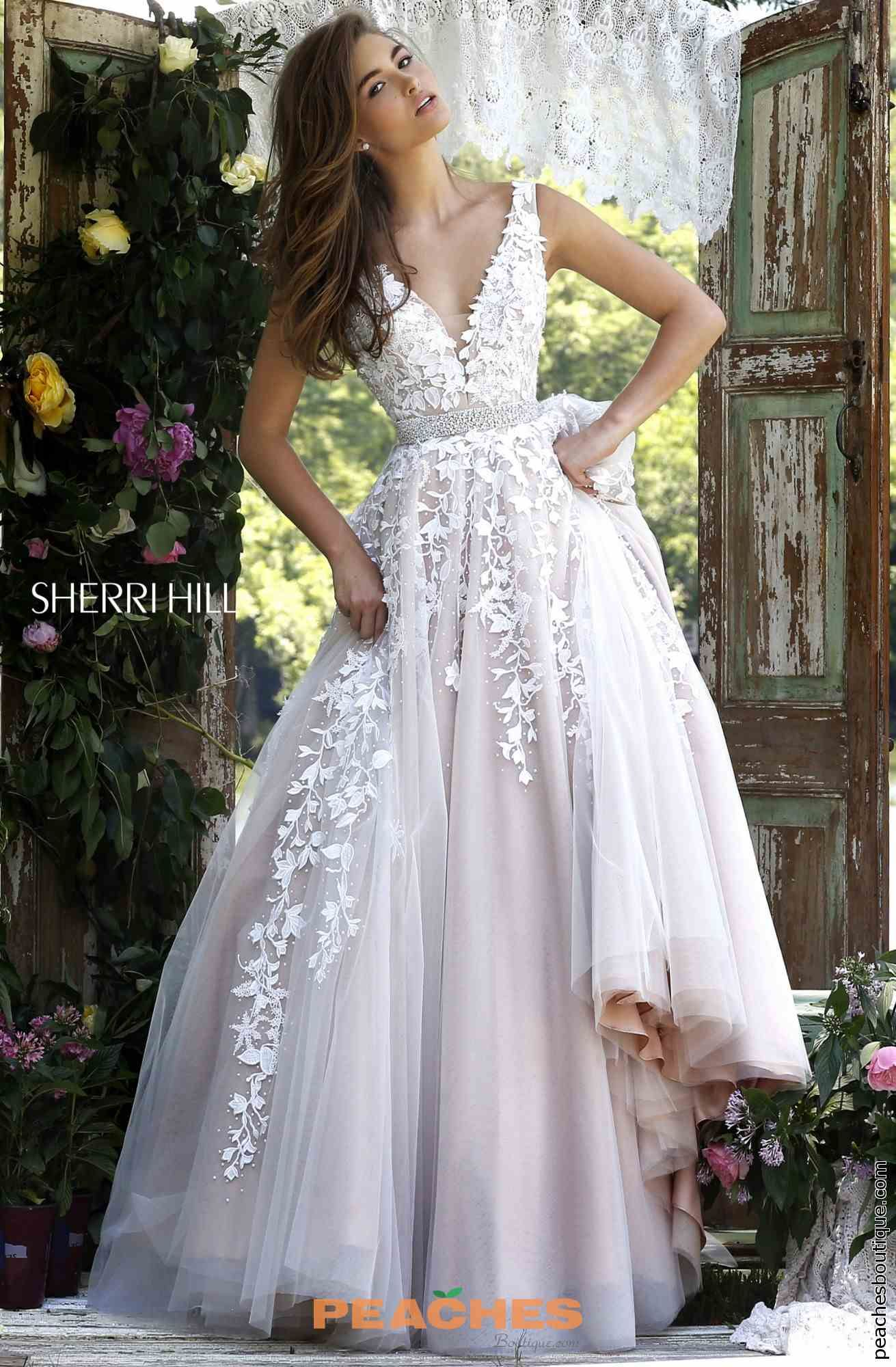 Sherri hill v neckline a line dress noivinhas pinterest