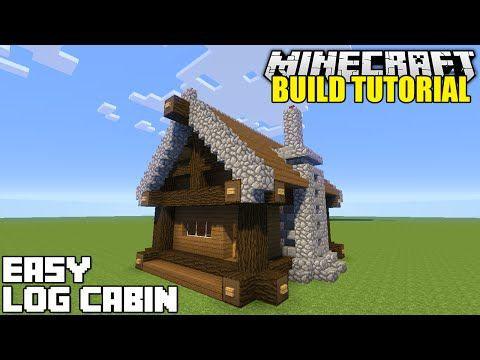 Awesome Minecraft How To Build A Small Log Cabin Tutorial Easy Download Free Architecture Designs Osuribritishbridgeorg