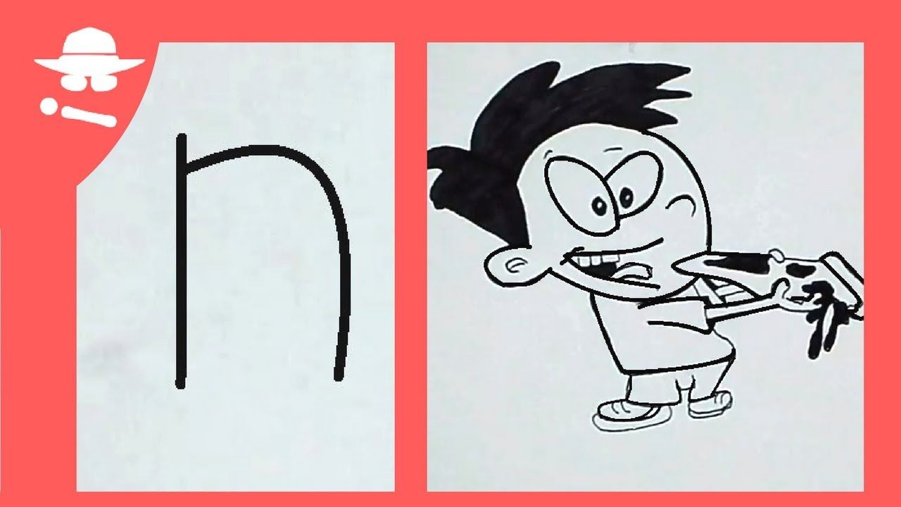 """How To Turn Letter """"N"""" Into The Cartoon Art Game On"""