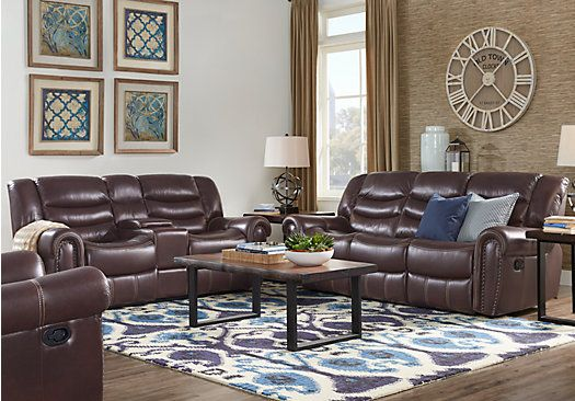 Beau Picture Of Sky Ridge Mahogany 3 Pc Leather Living Room From Leather Living  Rooms Furniture