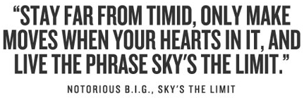 Stay Far From The Timid Only Make Moves When Your Hearts In It And